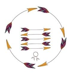 Arrow of boho style design vector