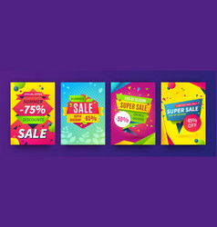 Banner sale poster promotion flyer discount vector