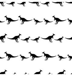 Black animal kangaroo seamless pattern eps10 vector