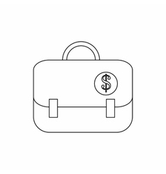 Briefcase with dollar sign icon thin line style vector image
