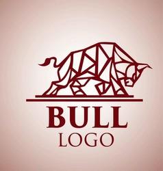 bull logo 6 vector image