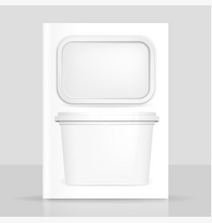 Butter box vector