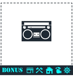 Cassette player icon flat vector image