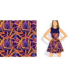 chaos splinters geometric seamless pattern vector image