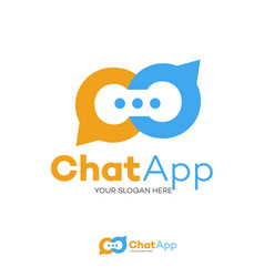chat logo flat style isolated on background vector image