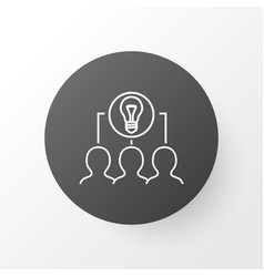 Collaborative idea icon symbol premium quality vector