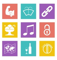 Color icons for Web Design set 48 vector image
