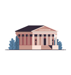 Courthouse building exterior legal law advice vector