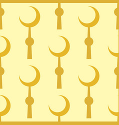Crescent muslim moon symbol star seamless pattern vector
