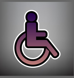 disabled sign violet vector image