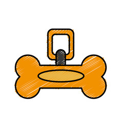 dog bone collar icon vector image
