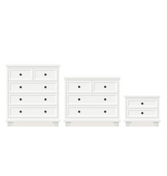 drawer chest and dresser in flat design vector image