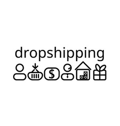 dropshipping icons vector image