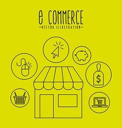 E-commerce icons design vector