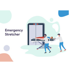 emergency stretcher vector image