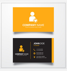 Favorite user icon business card template vector