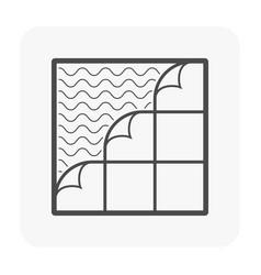 Floor icon black vector