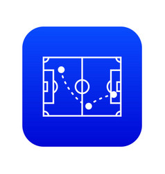 Football strategy icon simple black style vector