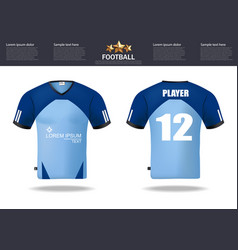 Football t-shirts design template for vector