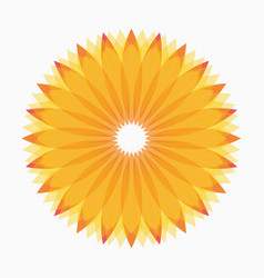 geometric logo design template vector image