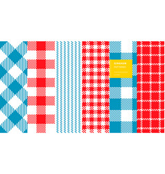 gingham plaid set vector image