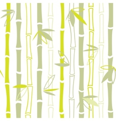 Green bamboo seamless pattern vector image