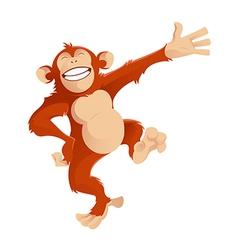 Greetig monkey vector image