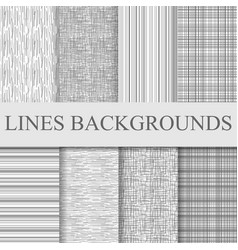 grey black and white striped patterns set vector image