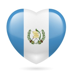 Heart icon of Guatemala vector image