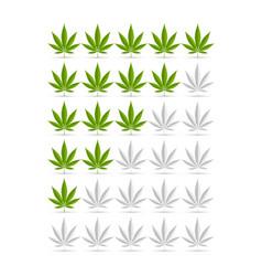 hemp leaf ranking symbols suitable for rating vector image