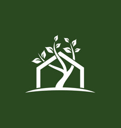 home tree business logo vector image