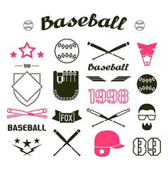 Icons Baseball team vector