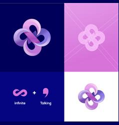 Infinite talk logo design inspirations vector
