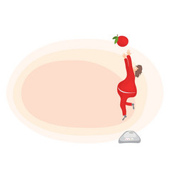jump to meet healthy eating vector image