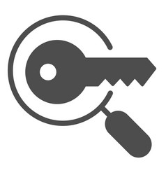 keyword search solid icon magnifying glass and vector image