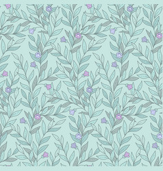 leaves and flowers pattern vector image