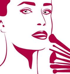 Make-up woman vector