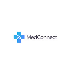 medical cross logo online medicine sign plus vector image