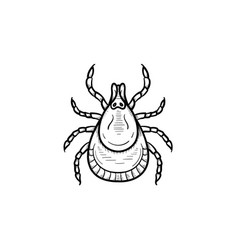 mite hand drawn sketch icon vector image