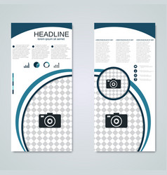 Modern roll-up business banner template vector