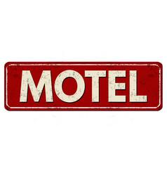 Motel vintage rusty metal sign vector