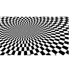 optical illusion checker texture vector image