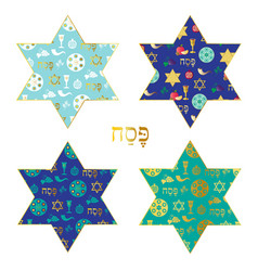passover patterns in jewish stars vector image