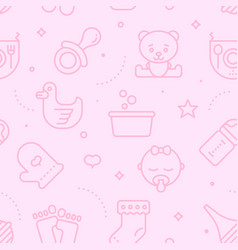 Pastel seamless baby pattern vector