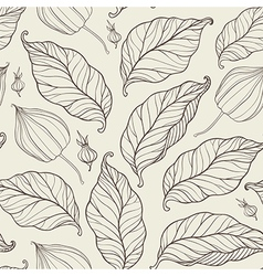 Pattern with falling leaves vector
