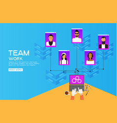people team vector image