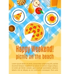 Picnic on the sand vector image