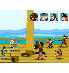 pirate game concept vector image