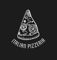 pizza label design typographic pizza festival or vector image
