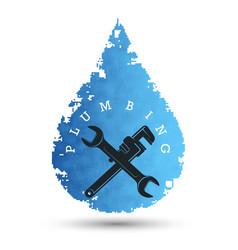 plumbing repair and maintenance symbol vector image
